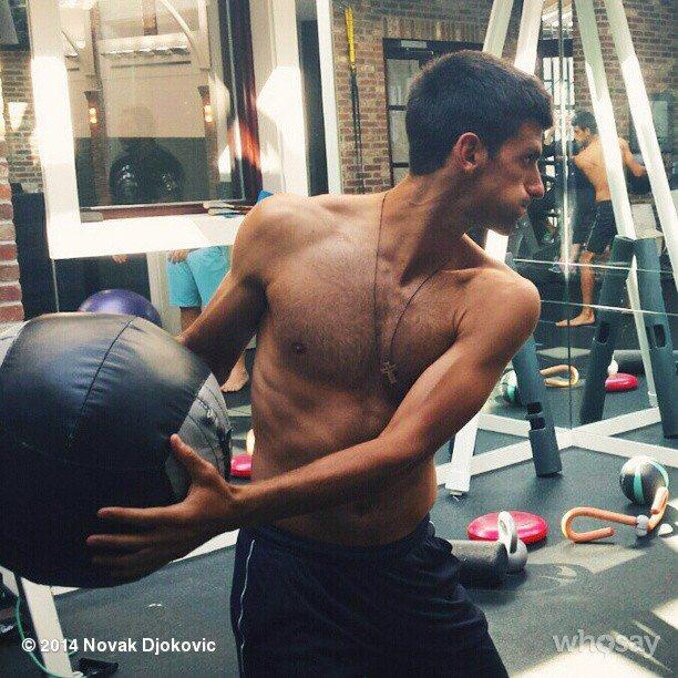 Novak Djokovic workout